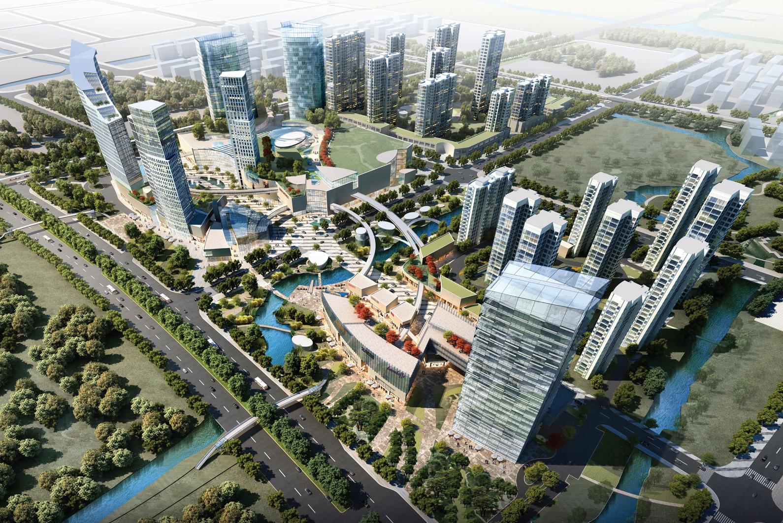 捷得建筑师事务所(jerde) 担纲整体规划设计大型生态城市综合体开发