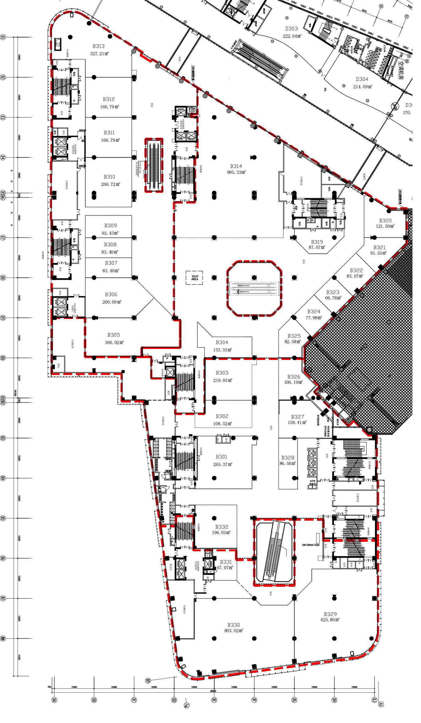 如为新建项目,建筑师在组织消防体系时还是有很多空间的,可以结合方案本身在设计初期就予以考虑。但目前商业建筑的发展日新月异,为了紧跟潮流,开发商也会对大型商业综合体内部进行大幅度的改造,重新组织空间和业态,消防系统也必然重新进行设计。这时候,限制条件就非常多了,建筑的形态、甚至外立面都已成型,疏散楼梯都已固化,建筑师只能在现状条件下谨慎的重新建立消防体系,努力打造一个完美、且安全的空间。本文将结合一个改造项目的消防咨询谈一下消防优化设计的几点体会。