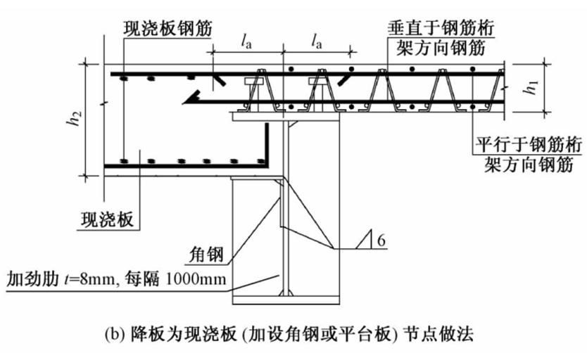 2节中组合楼板与钢筋混凝土结构搭接处节点做法